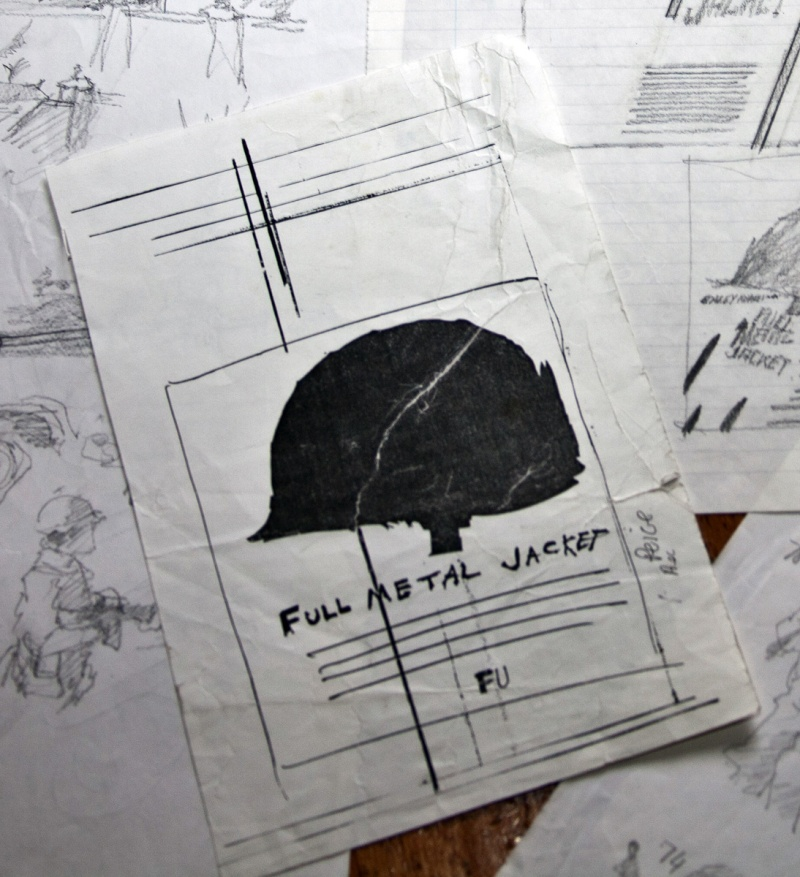 PHILIP CASTLE COPY OF SKETCH KUBRICK SENT TO PHILIP FOR FULL METAL JACKET