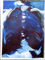 'BLUE CHEST' - GOUACHE ON PAPER