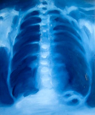 'BLUE RIBS' - OIL ON CANVAS