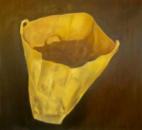 'EMPTY PAPER BAG' OIL ON CANVAS