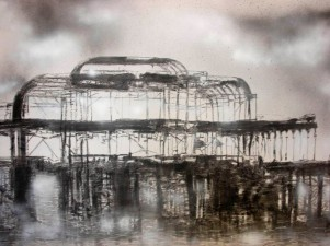 'WEST PIER BRIGHTON' - CHARCOAL AND CHALK