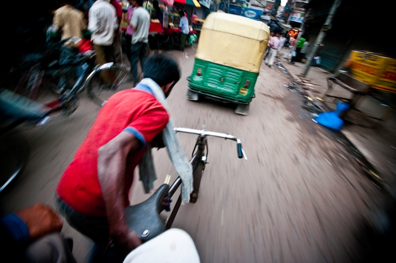 TAKE A TRIP!. Finally, its often a good idea to get around the streets on another mode of transport and not just your feet. This rickshaw ride was terrifying! But switching to a low shutter speed allowed for a speedy motion shot from an interesting angle.