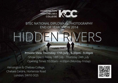 """Hidden Rivers"" National Diploma in Photography End of Year Show 2014."