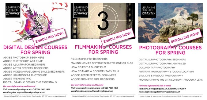 MORLEY COURSES FOR SPRING